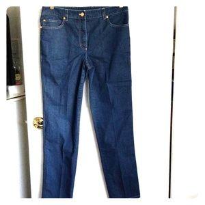 Escada women's Blue Jean's Straight legs sz40